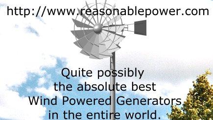wind powered generator low wind speed startup
